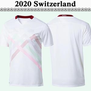 2020 Швейцария Сборные команды Сеферович мужского трикотажные изделия футбола Нового EMBOLO Freuler Закееся Shaqiri Away White майки форменных