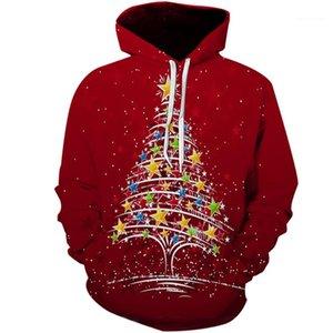 Desinger Hoodies 3D Stampa Manica Lunga Homme Abbigliamento Festival Stile Autunno Abbigliamento Casual Natale Mens Inverno
