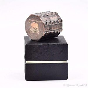 new fashion grinders Cali Crusher Homegrown Herb Spice & Tobacco herb Grinder for smoking 4 Piece Aluminum with Gift Box