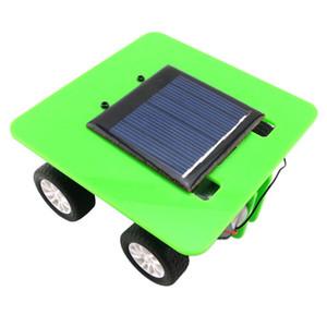 Çocuklar Için oyuncaklar 1 Takım Mini Güneş Enerjili Araba Oyuncak Diy Abs Çocuk 3 renkler Eğitim Komik Hediye Dropshipping Zevk