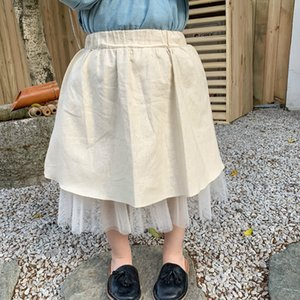 Gonna Mesh New Spring bambini vestiti in stile coreano cotone e lino pannello bambini delle neonate del pannello esterno per conto