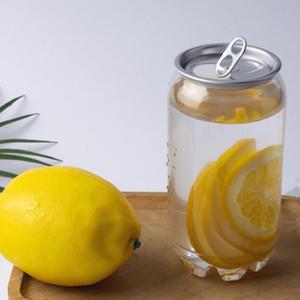Plastic Bottle Pop Can Beverage 350ML 500ML 650ML Anneau-pull Can ronde Bouteilles d'eau de qualité alimentaire à usage unique PET jus Coupes GGA3486-3