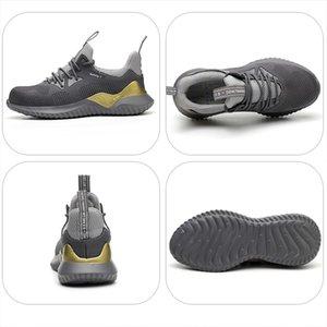 Zapatos JACKSHIBO para el dedo de los hombres de acero Cap botas anti-sensacional de protección de seguridad de Construcción zapatillas Y200506
