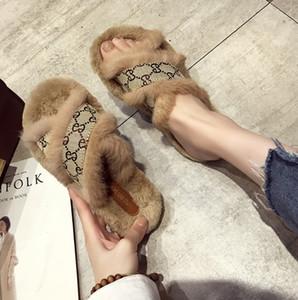 Zapatos del diseñador de moda de lujo de las mujeres deslizadores de los zapatos para mujer Pantuflas de mujer cubierta sandalias de las muchachas de la moda de alta calidad de piel desgastes Diapositivas 520