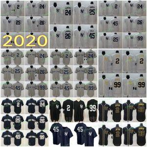 2020 Hombres 99 Juez 2 Jeter 24 Sánchez Torres 25 26 45 LeMahieu Cole 7 Manto 42 Rivera jerseys del béisbol Flexbase Coolbase hogar del camino cosieron
