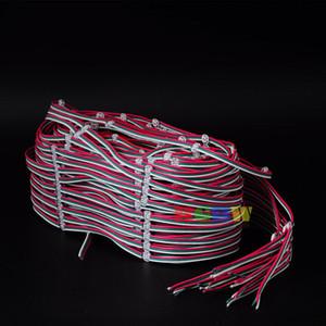 50Pcs Pre-проводные 5050 WS2812B SK6812 WS2812 Full Color RGB LED чип Теплоотвода с 10 см / 12 см / красочным прозрачным проводом DC5V