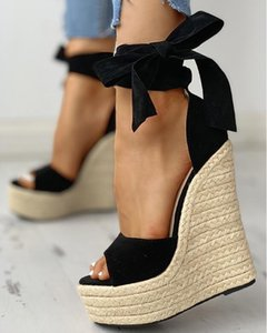 Women Summer Wedge Sandals Female Platform Bohemia High Heel Sandals Fashion Ankle Strap Open Toe Ladies Shoes