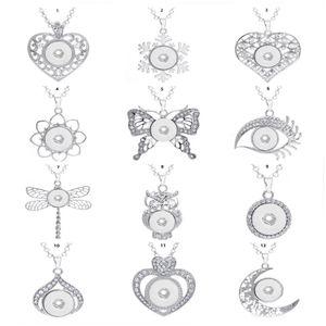 femmes Collier de mode snap pression collier pendentif Diy Ginger pression bijoux avec chaîne Fit charme 18mm Bouton cadeau exquis charmes colliers