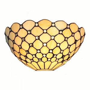 Tiffany Beige Lattice Wall Lights Camera da letto Bedside Semi Europeo Wall Sconce Beads Balcone Hallway Wall Light