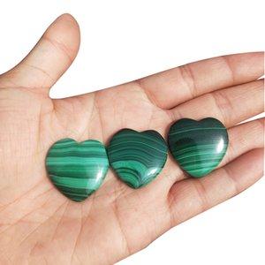 Real Natural Malachite Crystal Cuore Giada Ciondolo Gioielli di giada Fine Jewelry Punti di guarigione perline Reiki Quartz