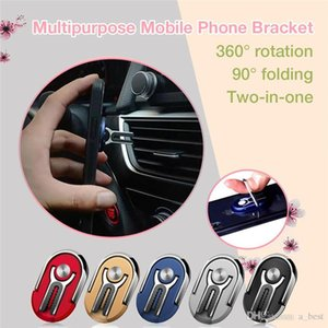 Car Mount Air Vent Grip Multipurpose 2 in 1 SMART Phone Holder 360 Degree Rotation Stand Rotating Magnetic Finger Ring Phone Holder Bracket