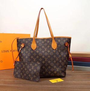 top quality 2pcs set classic Designer womens handbags flower ladies composite tote PU leather clutch shoulder bags female purse with wallet