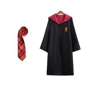 HOT ENFANTS Vêtements Cosplay Robe Costume Potter robe à capuche avec liens enfant adulte costume unisexe costume enfants vêtements magiques robe