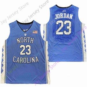 2020 Nuovo NCAA College North Carolina maglie 23 Giordano Jersey di pallacanestro Blu Taglia Gioventù per adulti Tutto cucito