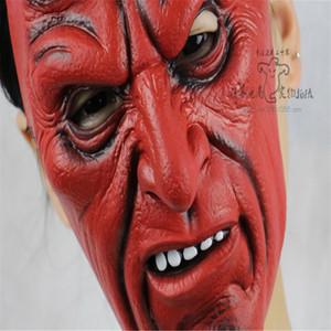 Hellboy Party Show Одеваются Маски Хэллоуин Реалистичные Декоративные Отличительные Одеваются Facemask Эмульсия Практическая Шутка Headmask