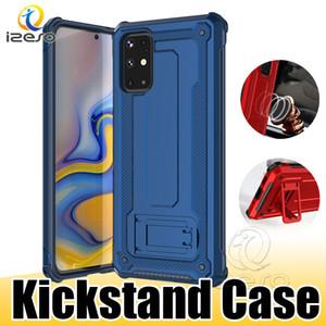 De piel para Samsung S20 S10 Ultra Plus A70 A40 M10 híbrido resistente teléfono contraportada de Shell antichoque Protector para iPhone 11 izeso