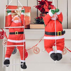 60CM حبل تسلق سلم سانتا كلوز زينة عيد الميلاد في الهواء الطلق سانتا كلوز قلادة دمية