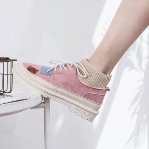 El otoño y el invierno las botas de las nuevas mujeres de Corea del calzado casual de la mujer de los estudiantes tendencia de fondo grueso, más cálido terciopelo Martin botas las mujeres