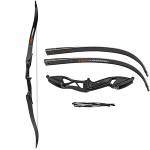 Profesional de 56 pulgadas 30-50lbs Ballesta conjunto de flecha de tiro con arco Caza Takedown metal Arco recurvado Right Hand Target