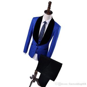 Royal Blue Embossing смокинги жениха свадебные мужские костюмы мужские свадебные костюмы смокинги костюмы для курящих для мужчин (куртка + брюки + галстук + жилет) 22