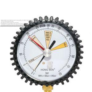 Freeshipping Ar Condicionado Refrigeração Teste nitrogênio medidor de pressão de tabela simples refrigerante R134A para R22 R410A