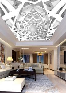 3d геометрический фон потолок стены 3d потолок Фрески обои 3d потолки