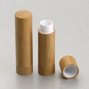 Бамбук DIY Дизайн пустой блеск для губ контейнер губная помада трубка, бальзам для губ косметическая упаковка контейнеры оптом LX8764
