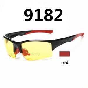 Nuevas gafas de visión nocturna ciclismo al aire libre esquí deportivo gafas de sol coloridas 9182 marca ok anteojos 9 colores