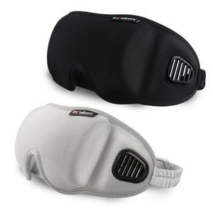 3D Eye Cover Máscara de Dormir Sombra de Viagem Escritório Sono Mulheres Homens Óculos Respirável Suave Ajustável Eyepatch Venda RRA1868 Preto
