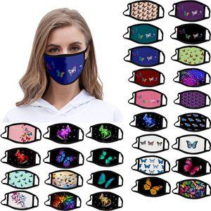 Tasarımcı yüz maskeleri kız çocuk maskeleri yetişkin tasarımcı yüz maskesi pamuk amerikan reuseable maske buz ipek erkek baskı 3D çocuk maskesi kelebek