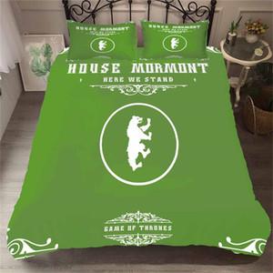 Thrones Of Canavar Yatak Seti Oyun Moda Nevresim Yeşil Kral Kraliçe Tek Çift Yataklı Tam Kapak ile Yastık Yatak