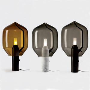 Nordic Art Glass Marble Table Lamp Industrial Villa Restaurant Bedside Lamp Individual Desk Light Fixture TA159