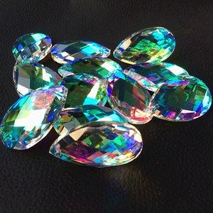 100шт 38мм Clear AB изменчива k9 кристалл граненых Призмы (Free Rings) Крите аксессуары, Свадебные украшения партии