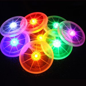 LED Flying Disk Light Up Frisbee Deportes al aire libre Juguete multicolor Suministros para mascotas Light Up Kids Sports Toys