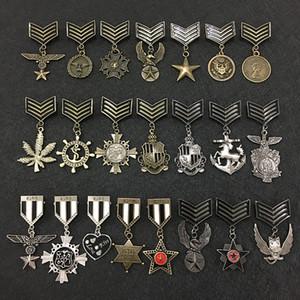 Aşk beş yıldız Kartal Askeri Metal Rozet Retro Fabri Omuz Kurulu Rozetleri Ordu Pin Broş Madalya El Yapımı