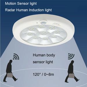 LED Звук и свет Потолочные управления Потолочные светильники Свет 220V Коридор Лестница человеческого тела Индукционная лампа Smart Sensor Motion LED