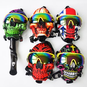 Silicone Gas Predator Mask With Acrylic smoking pipes Water Bongs Oil Rig Hookah Bubbler Tobacco Tubes
