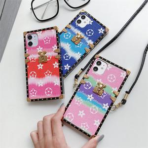 Новый модный дизайнерский чехол для телефона iphone 11 pro max 7 8 plus X XR Xs Max высококачественная силиконовая печатная Цветочная крышка телефона с талрепом