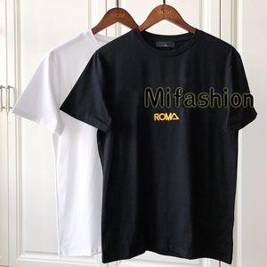 2020 Новая мода Дизайнерская одежда Европа Италия Сотрудничать Roma Special Edition Tshirt Мужчины Женщины T Shirt Повседневная Хлопок Tee Top S XXL
