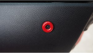 Fit for Ford MUSTANG Unlock the signal lights, decorate the stainless steel door frame, and ring the trim