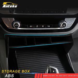 Para BMW X3 G01 X4 G02 2017 2018 2019 Car Styling Storage Center Console Barrel Organizador Box Organizer Caso Interior Acessório