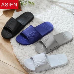 ASIFN hombres Zapatillas De casa diapositivas verano baño mujeres interior antideslizante Zapatos De Hombre hombre sandalias sólidas casa chanclas