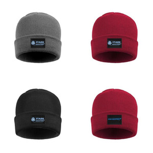 Stark Industries logo Hommes Femmes en maille fine Cuff Toboggan Caps