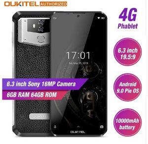 OUKITEL K12 6,3 '' Waterdrop 1080 * 2340 4GB 64GB Android 9,0 smartphones cara ID 10000mAh 5V / 6A carga rápida OTG NFC Mobile Phone