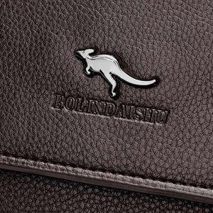 Дизайнер-2017 Новое поступление портфель мужская сумка кожа pu мода messenger сумки мужчины большой емкости сумка для ноутбука бесплатная доставка