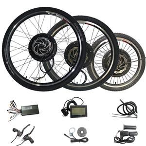 48V 1000W Kit de vélo électrique Kit de conversion de vélo électrique arrière KT Controller Regenerative LCD3