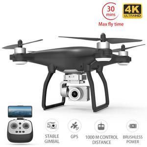 X35 Drone GPS WiFi 4K HD cámara Profissional RC Quadcopter de motor sin escobillas Drones cardán Estabilizador de vuelo de 30 minutos