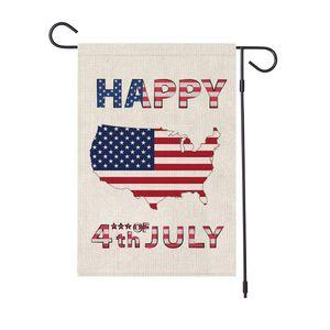45 * 30CM ABD bağımsızlık günü bahçe bayrak başkan Amerika tatil Temmuz keten afiş açık parti dekor mutlu 4th FFA4019B sahne baskılı