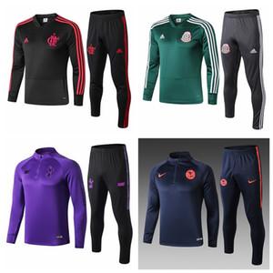 19 20 Flamengo Meksika İtalya Sao paulo Palmeiras Futbol eşofman Futbol ceket seti Eğitim takım elbise kazak eşofman Eğitim takım elbise