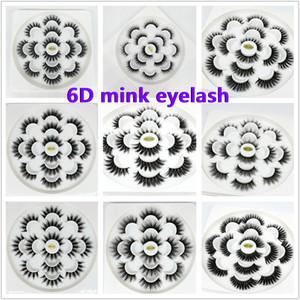7pairs / lot Faux 6D Vison Cils naturel à long faux cils cils Extension doux Mink faux cils cils maquillage outil